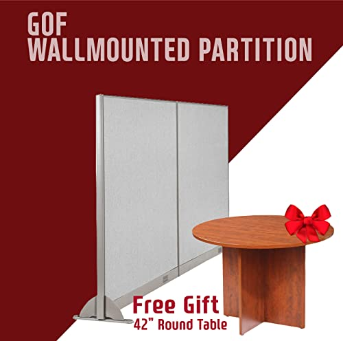 GOF Wall Mounted Office Partition, Large Fabric Room Divider Panel, 96 W x 60 H