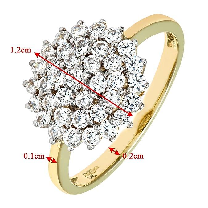 Giallobianco In Naava Amazon Donna 9k Diamante Da Con Oro Anello tqFWFXwT