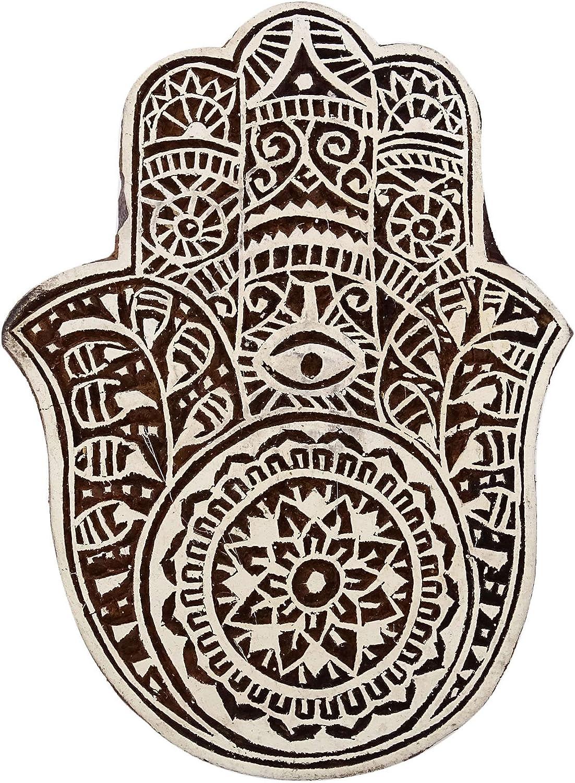 Stamp Indian Wooden Brown Textile Stamps Wood Printing Block Decorative Block