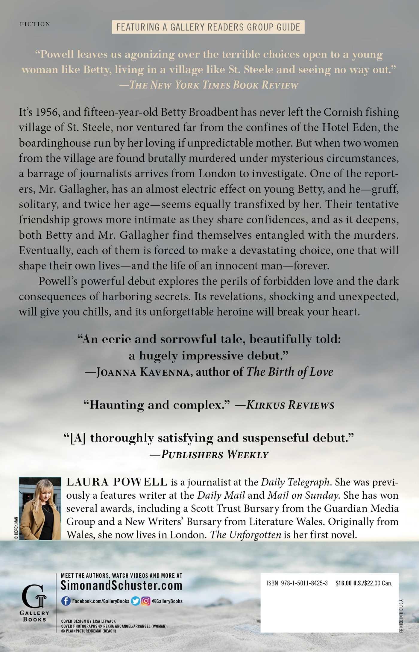 Amazon com: The Unforgotten: A Novel (9781501184253): Laura
