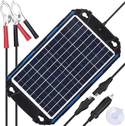 Amazon Com Suner Power Waterproof 12v Solar Battery Charger Maintainer Pro Built In Intelligent Mppt Charge Controller 10w Solar Panel Trickle Charging Kit For Car Marine Motorcycle Rv Etc