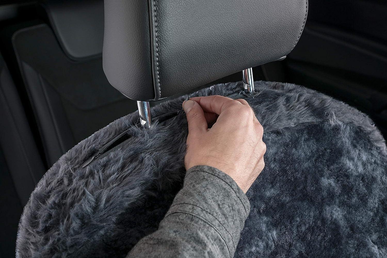 Walser 20010 Zipp IT Lammfell Autositzbezug Monette anthrazit Lammfellbezug Autoschonbezug Schonbezug Sitzbezug mit Rei/ßverschluss System