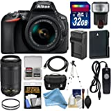 Nikon D5600 Wi-Fi Digital SLR Camera with 18-55mm VR & 70-300mm DX AF-P Lenses + 32GB Card + Case + Flash + Battery & Charger + Tripod + Filters Kit (DigitalAndMore Black Friday / Cyber Monday Deal)
