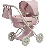 "Olivia's Little World 16"" Baby Doll Furniture Stroller, Pink/Grey, 22"" x 14.37"" x 25.2"""