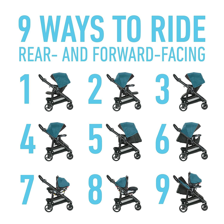 Graco Modes 3 Lite DLX Travel System Arbis Includes Modes 3 Lite DLX Stroller and SnugRide SnugLock 30 Infant Car Seat