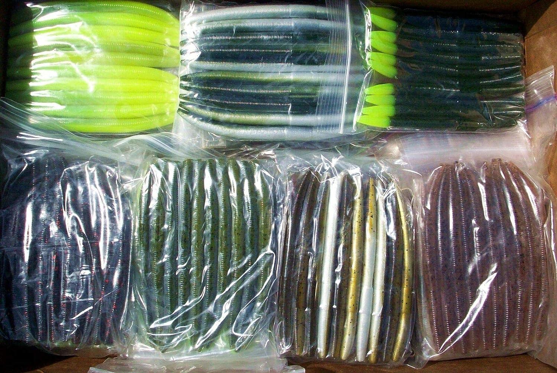 "50pc Lot 5/"" inch Bubblegum Senko Style Soft Plastic Bass Fishing Bait Worm"