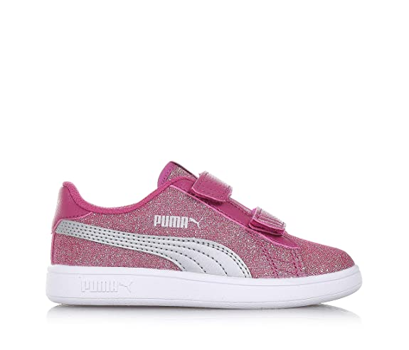 Puma Smash v2 Glitz Glam Magenta Sneakers Scarpe Bambina 367378 03