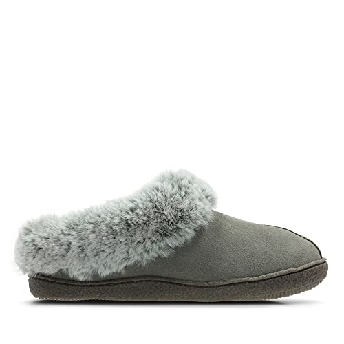 5c31191e7d31 Clarks Home Classic Suede Slippers in Grey  Amazon.co.uk  Shoes   Bags