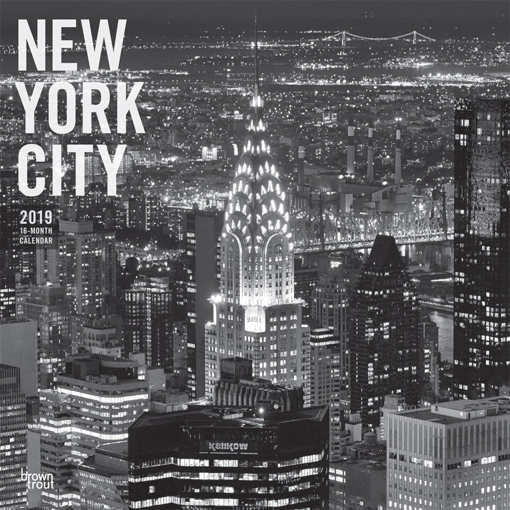 New York City Black & White 2019 12 x 12 Inch Monthly Square Wall Calendar, USA United States of America New York State Northeast Atlantic (English, French and Spanish Edition) PDF