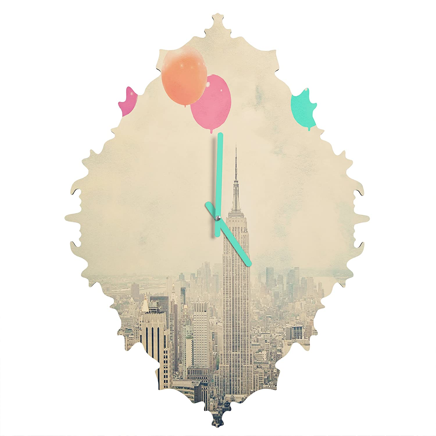 Deny Designs Maybe Sparrow Photography, Balloons Over The City, Round Clock, Round, 12 12 50723-roucls