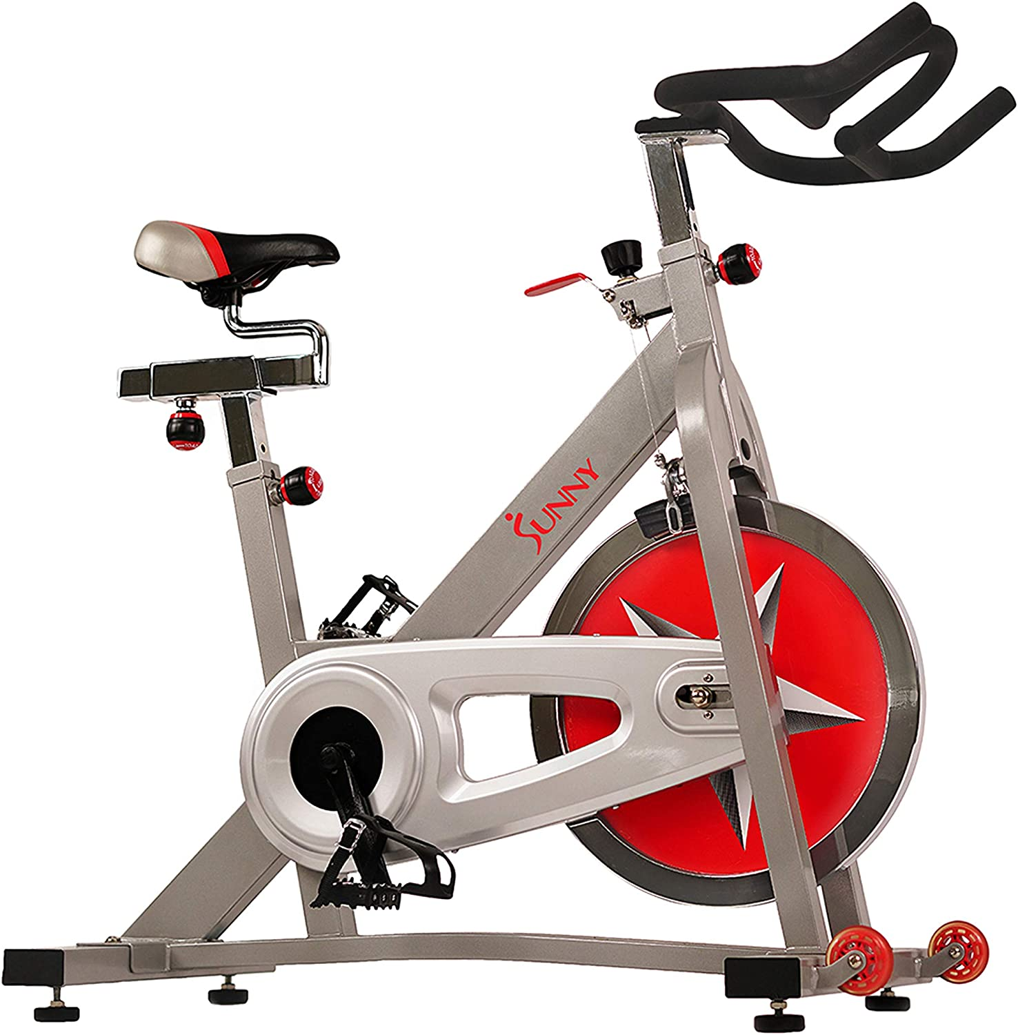 Sunny Health & Fitness Indoor Cycling Bike with 40 LB Flywheel