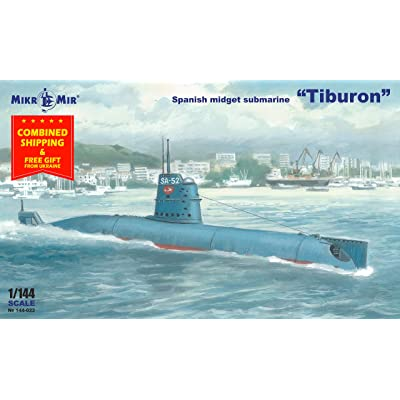 Spanish Small Submarine Tiburon 1986 MIKRO MIR 144-021 1/144 Scale Model Fleet: Toys & Games