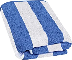 Utopia Towels Cabana Stripe Long Beach Towel - Large Pool Towel - (35 x 70 Inches), Blue