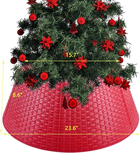 Adjustable Hard Plastic Skirt Vencer Tree Collar Christmas Decor Large to Small Christmas Tree