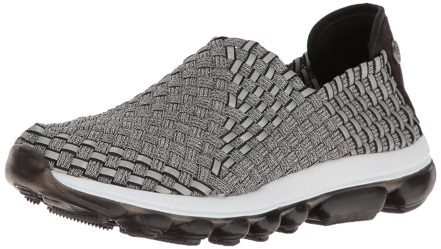 Bernie Mev Women's Gummies Gem Flat B01EZ99GSI 40 EU/9.5-10 M US|Pewter Black Reflective