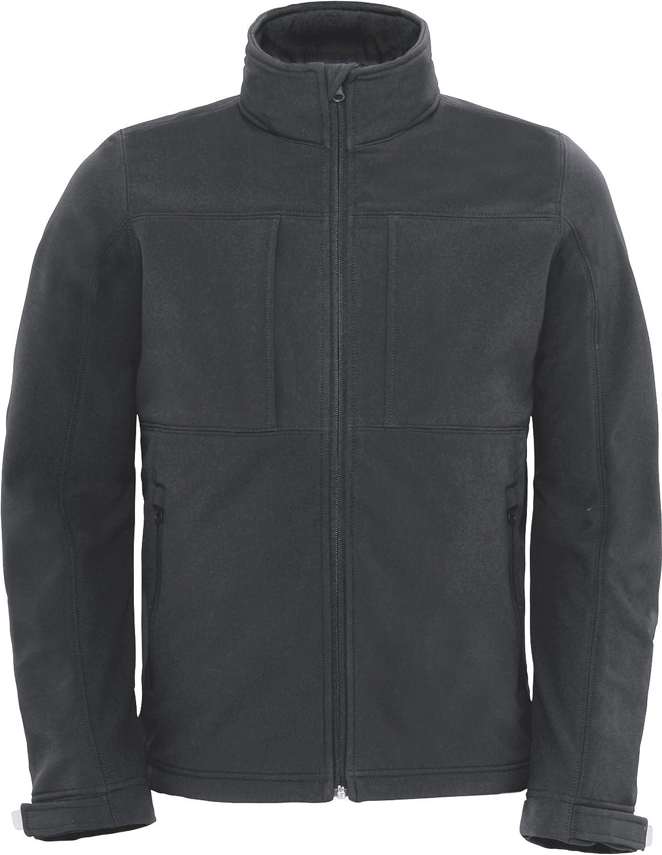 B&C Herren Softshelljacke Hooded Softshell/Men Schwarz Black L Dark Grey