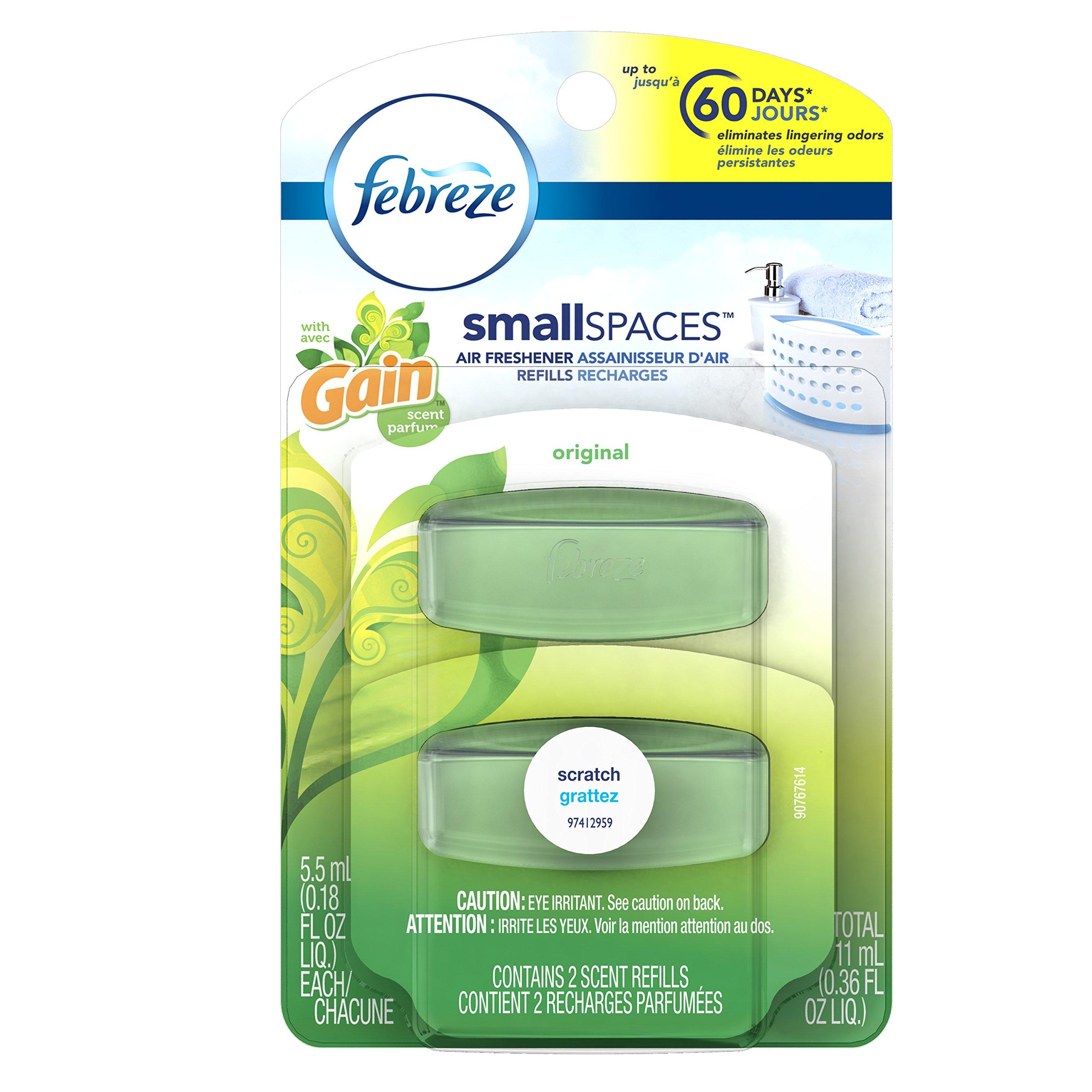 Amazon.com: Febreze SmallSpaces Heavy Duty Crisp Clean Scent ...