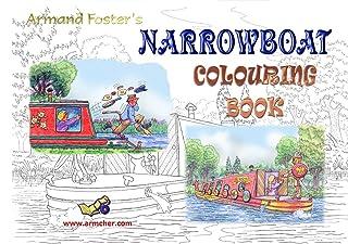 NARROWBOAT COLOURING BOOK - ARMAND FOSTER A4 SET No. 5 - NARROWBOAT CARTOONS