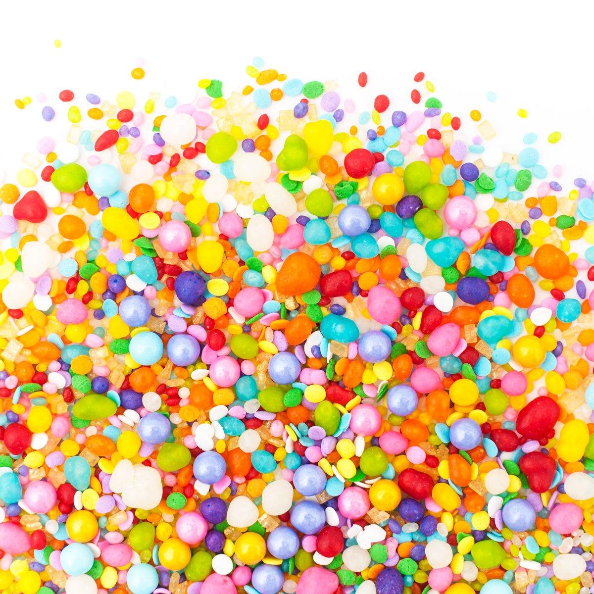 Candy Sprinkles | Unicorn Candyfetti | 8oz Jar | Rainbow Fruity | MADE IN THE USA! | Edible Confetti