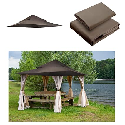 Yescom 2 Tier 12x12 Canopy Top Replacement Patio Cover For Harbor Gazebo  GFS01250A