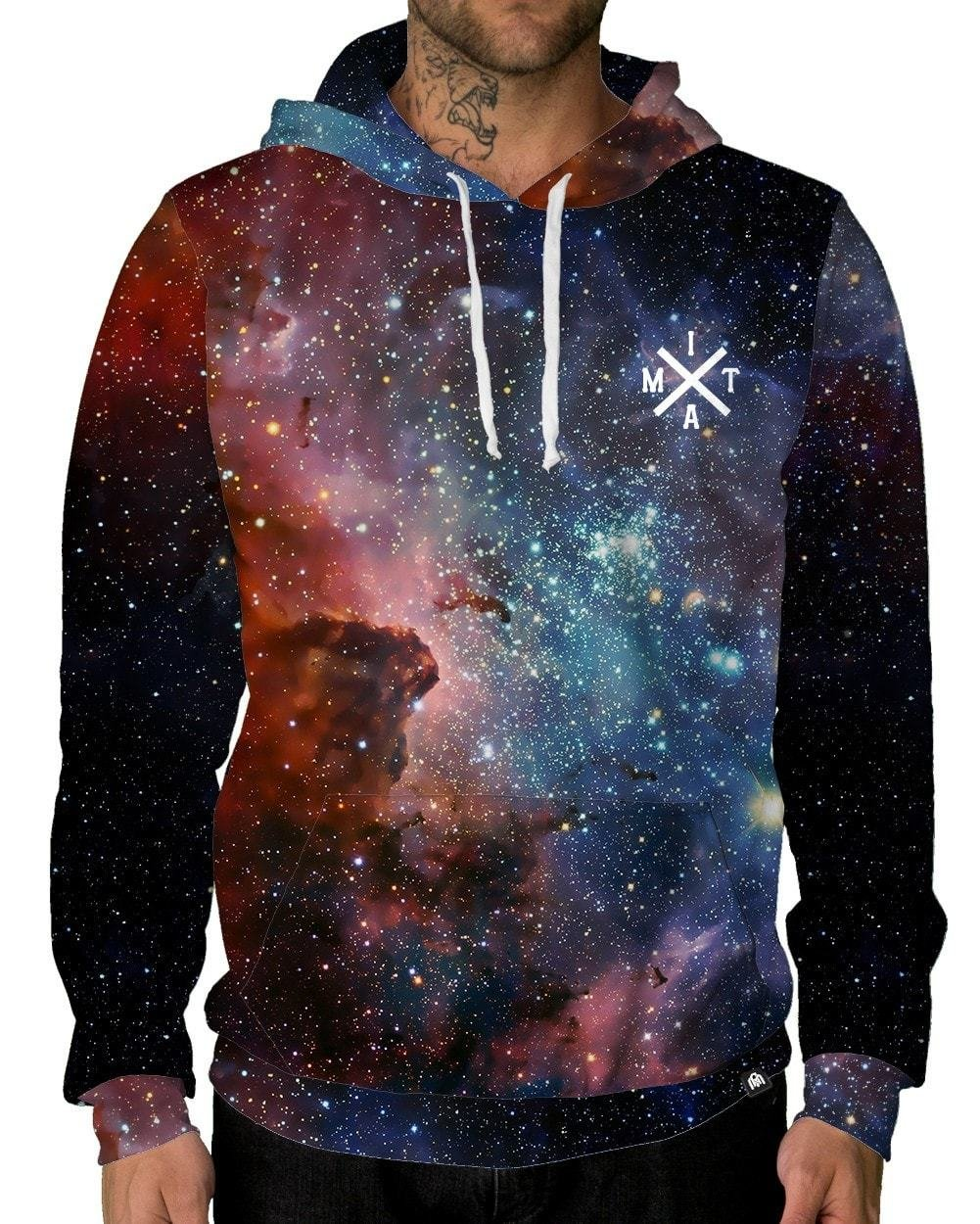 INTO THE AM Milky Way Pullover Hoodie (2X-Large)