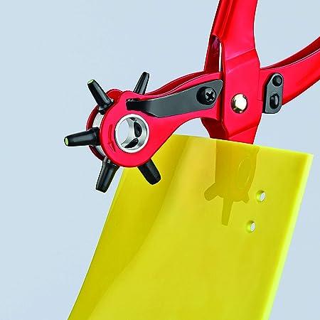 KNIPEX Revolverlochzange rot pulverbeschichtet 220 mm Nr 90 70 220