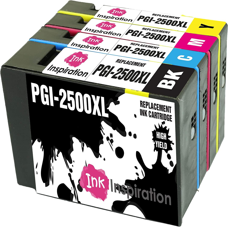INK INSPIRATION/® Reemplazo para Canon PGI-2500 PGI-2500XL Multipack 8 Cartuchos de Tinta Compatible con Canon MAXIFY MB5350 iB4050 MB5050 MB5150 MB5450 iB4150 MB5455 MB5155 Negro//Cian//Magenta//Amarillo
