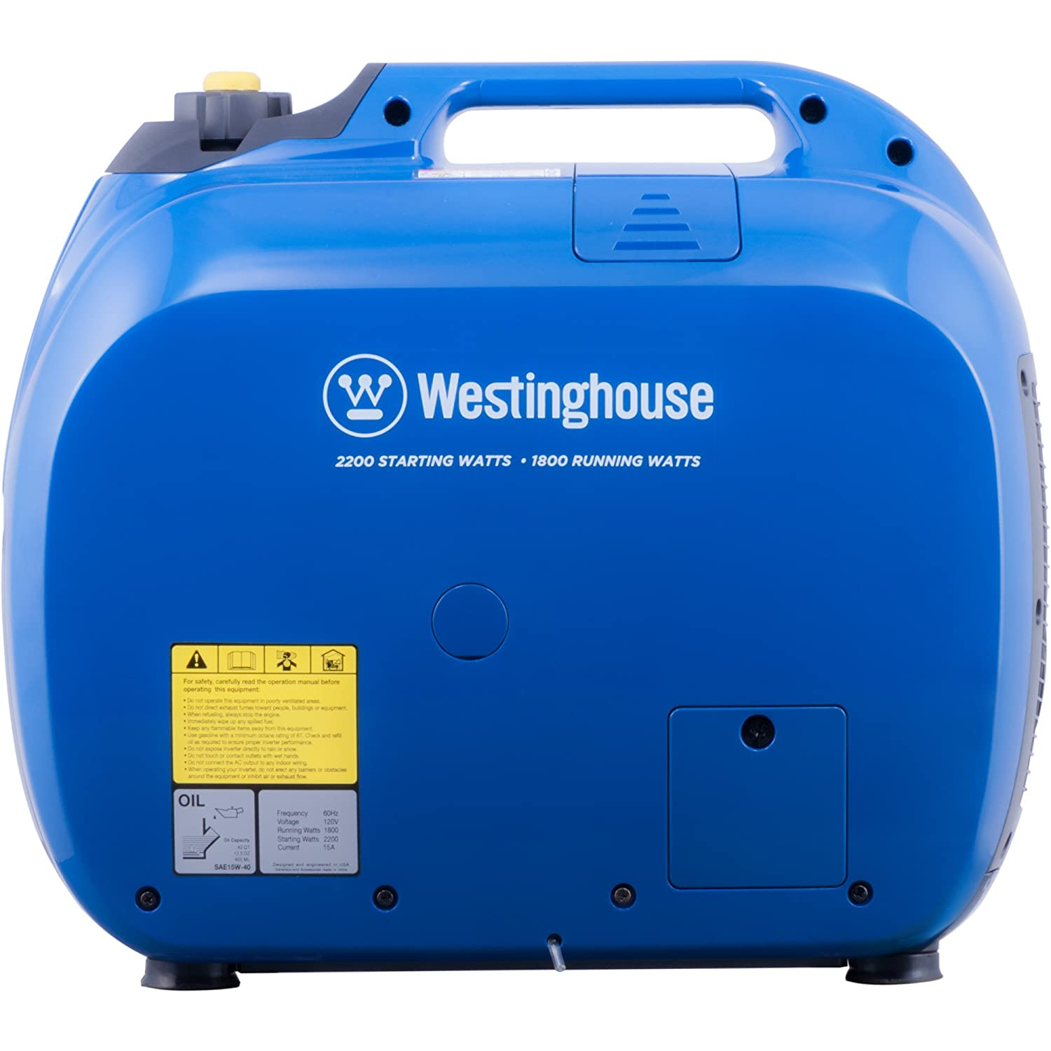 Amazon.com : Westinghouse WH2200iXLT Super Quiet Portable Inverter  Generator - 1800 Rated Watts and 2200 Peak Watts - Gas Powered - CARB  Compliant : Garden ...