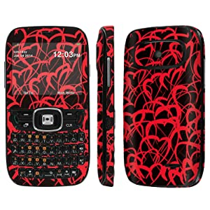 [ZTE Altair 2 Z432] Skin [NakedShield] Scratch Guard Vinyl Skin Decal [Full Body Edge] [Matching WallPaper] - [Doodle Love] for AT&T GoPhone ZTE Z432 [Altair 2]