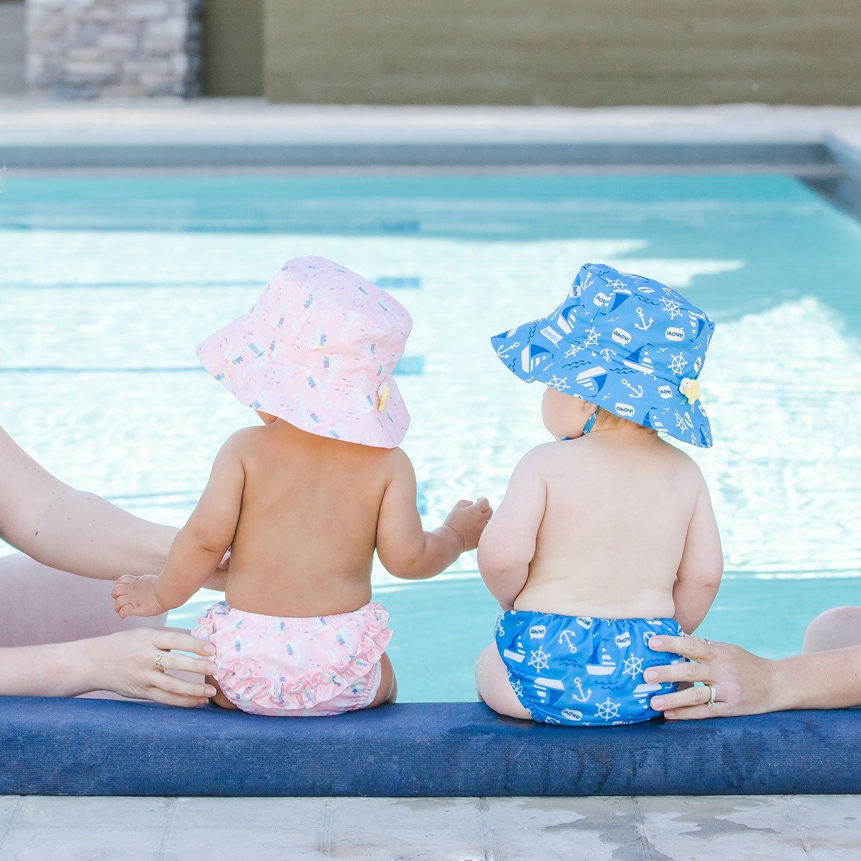 Amazon.com : Bumkins Reusable Swim Diaper and Hat, UPF +50, Ahoy, 6 Months : Baby