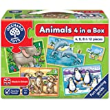 Orchard Toys Animals 4 in a Box, Multi Color