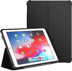 JETech Funda Compatible iPad (9,7 Pulgadas, 2018/2017 Modelo, 6ª/5ª Generación), Soporte de Doble Plegables y Contraportada de TPU a Prueba de Choques, Auto-Sueño/Estela, Negro