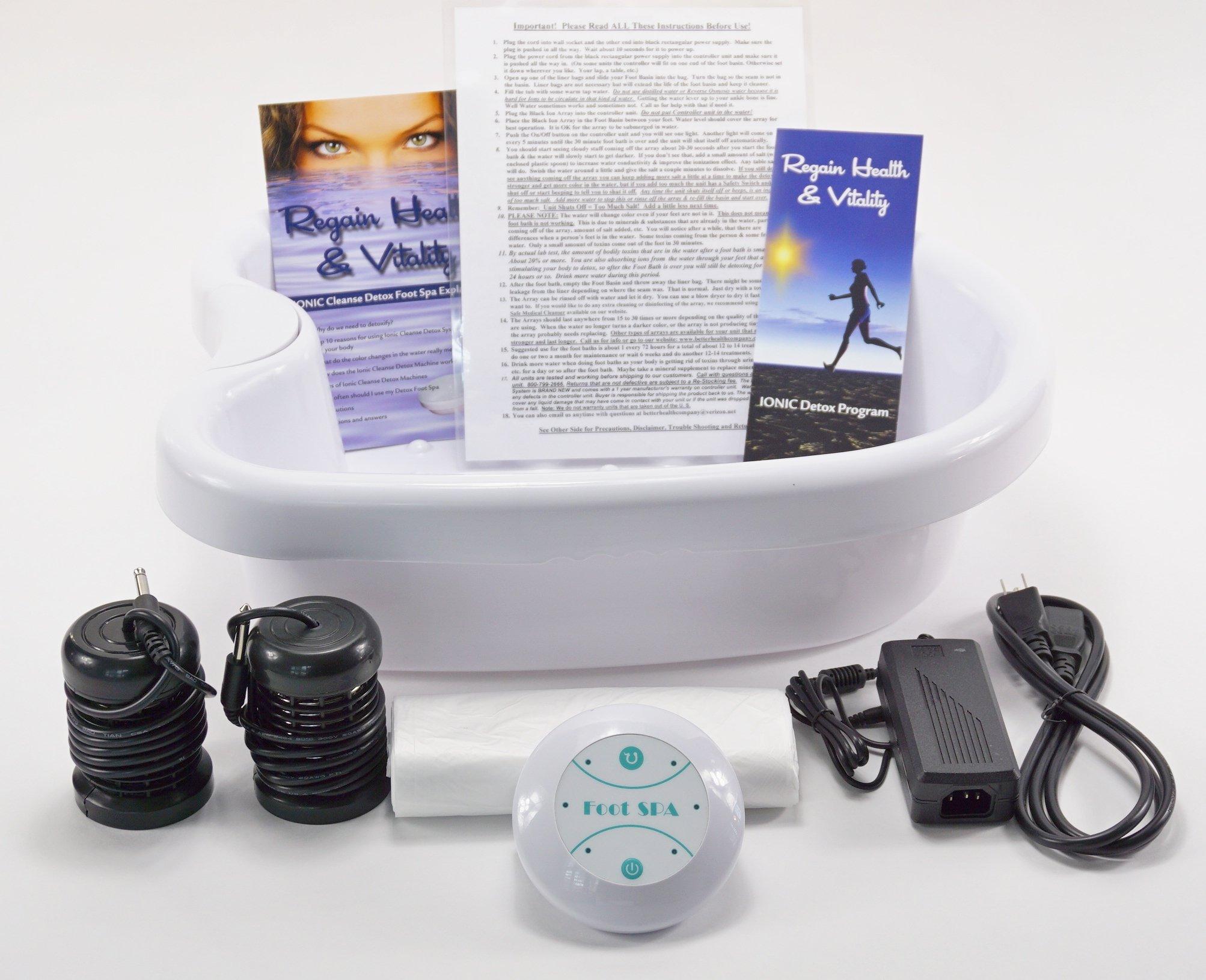 Ionic Cleanse Detox Foot Spa Bath. With Heavy Duty Acrylic Foot Basin. Top Seller