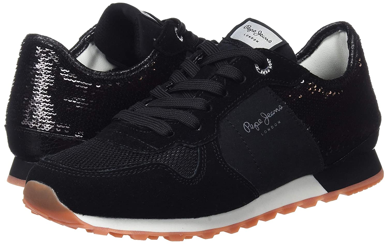 Pepe Jeans Damen (schwarz Verona W New Sequins 2 Sneaker, Schwarz (schwarz Damen 999) eb82b5