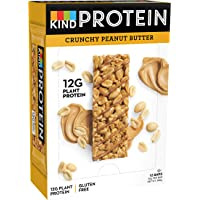 KIND Crunchy Peanut Butter- High Protein Bars- Low Carb Snack- 12x 50g