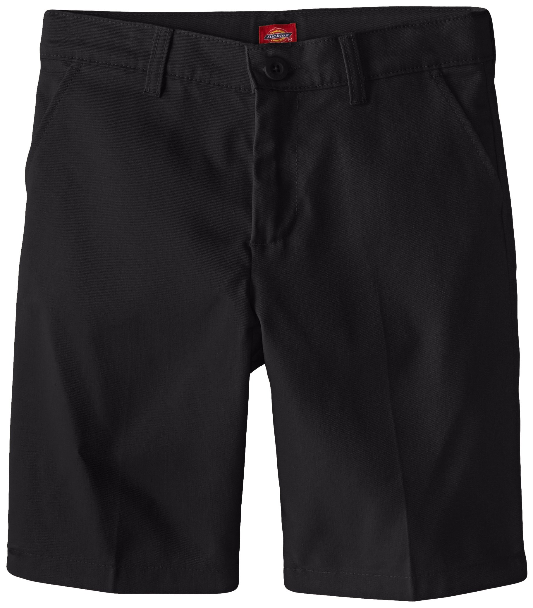 Dickies Girl Big Girls' Flex Waist Slim Fit Flat Front Short, Black, 10