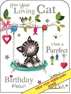 Jonny Javelin From Your Loving Cat Have A Purrfect Birthday Card
