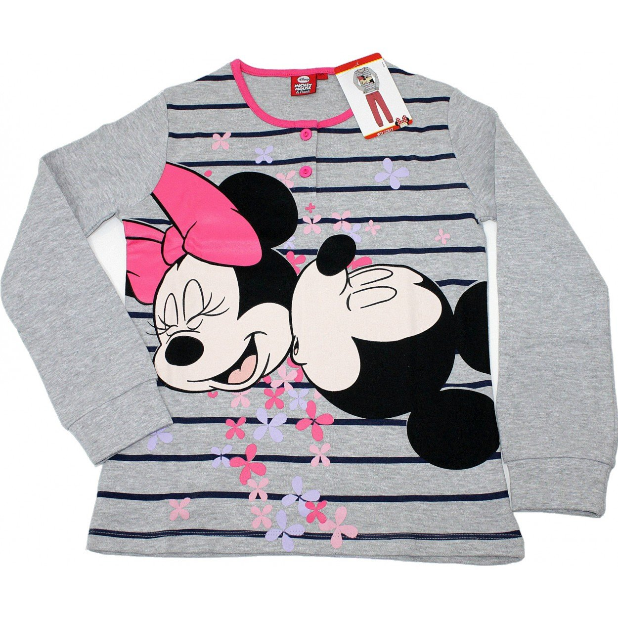 58110f43dd Disney Pigiama Bimba Minnie Topolino Puro Cotone Interlock Tg 8-9-10 Anni  22817: Amazon.it: Abbigliamento