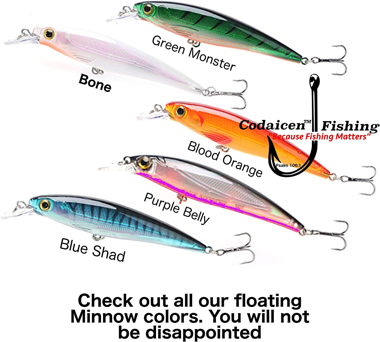 10PCS Fishing Lures Crankbaits Jerkbait Minnow Lot Hooks Crank Bait Bass Tackle