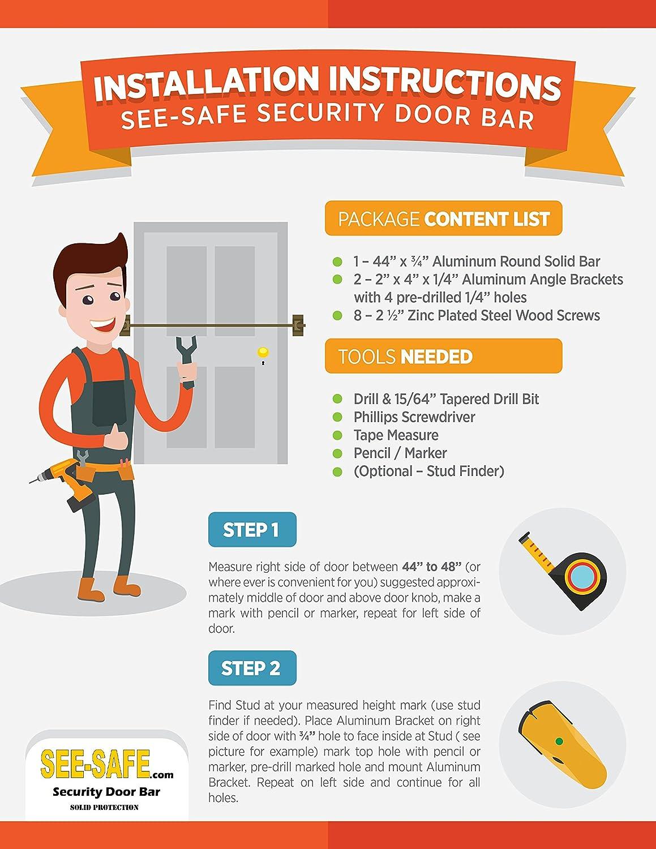 Door Brackets Security & Security Door Brace French ...