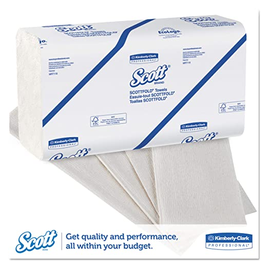 Scott 01980 SCOTTFOLD Paper Towels, 9 2/5 x 12 2/5, White, 175 Towels per Pack (Case of 25 Packs): Paper Towels: Amazon.com: Industrial & Scientific