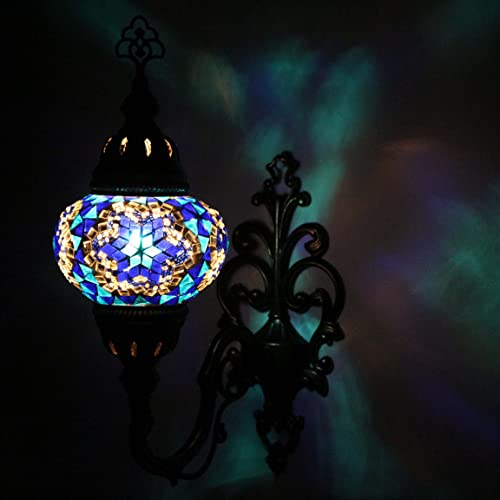 unique wall lights wall art mosaic lamp handmade turkish sconce lampwall light stunning moroccan style amazoncom