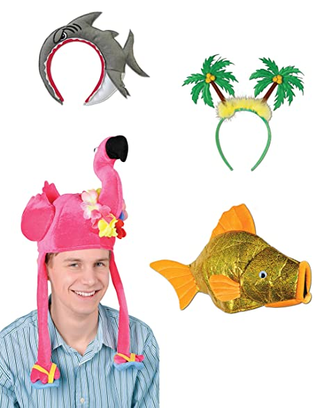 8ed2f91b785a8 Amazon.com  Beistle S3AZA Luau Hats Assortment