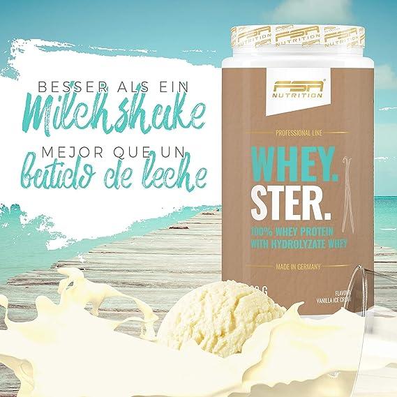 Whey proteína en polvo - 900g - Helado de vainilla