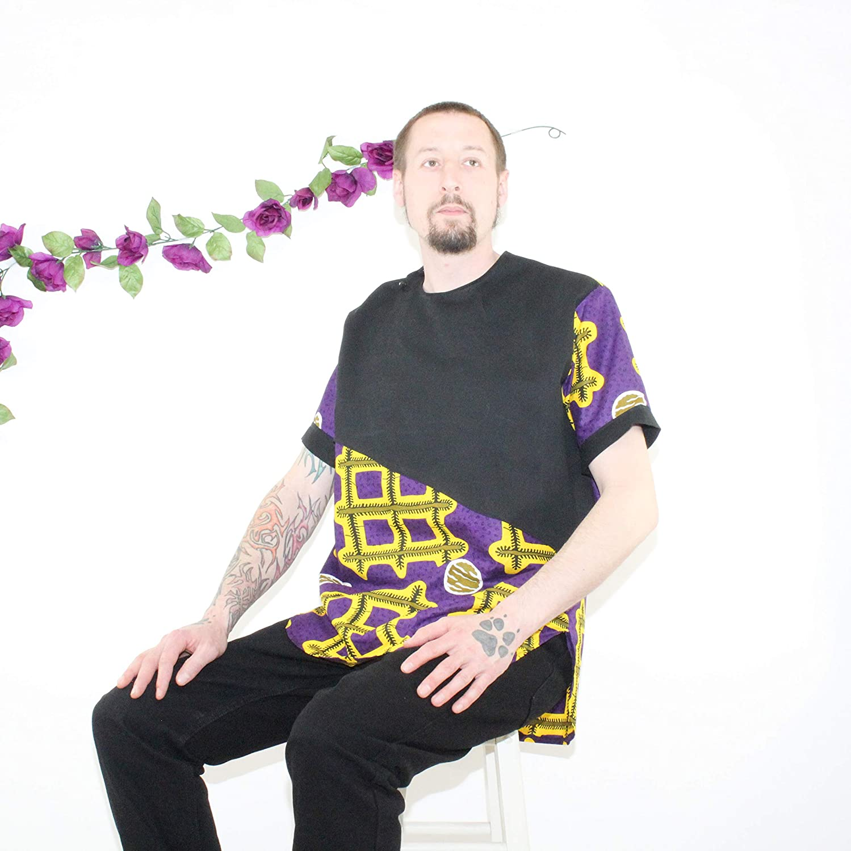 Mawusi Clothing African Print Ankara Men Round Neck Shirt