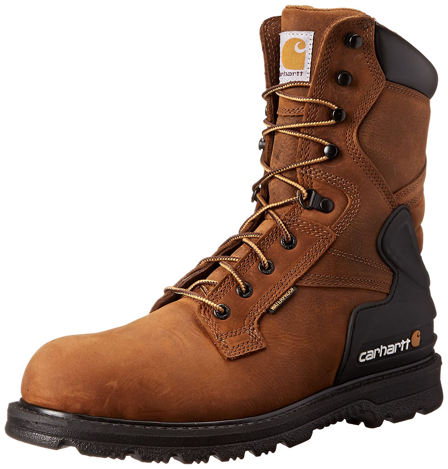 Carhartt Mens 8 inch Closed Toe Cold Weather Boots B007BO150C 10.5 2E US|Bison Brown Oil Tan Bison Brown Oil Tan 10.5 2E US