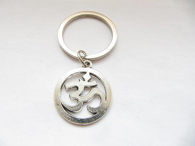 Amazon.com: Om Ohm, aum, sánscrito símbolo, llavero, llavero ...