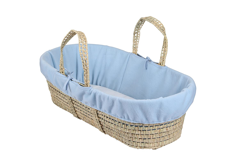Clair de Lune Fleece Liner/Dressing for Moses/Wicker Basket (Blue) BabyCenter CL5533B