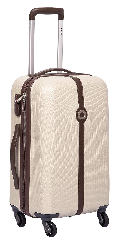 Delsey Clava ABS 55 Cm 4 Wheels Dark Beige Cabin Hard Suitcase