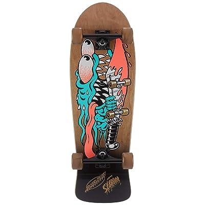 "Santa Cruz Skateboard Old School 80s Cruiser Meek Slasher 10.1"" x 31.13"" : Sports & Outdoors"